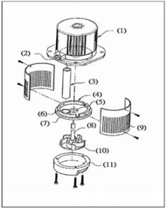 クーラントポンプ C 構造図