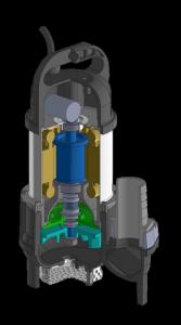 水中ポンプ B 3D図