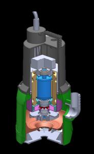 海水・弱ケミカル 水中ポンプ S 3D