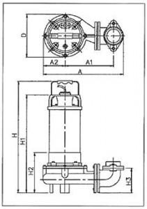 耐熱ポンプ外形図